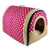 Alaof Hundebett,2 In 1 Innen Tragbar Faltbar Katze Zimmer/Bett,Weich GemüTlich Schlafen Tasche...