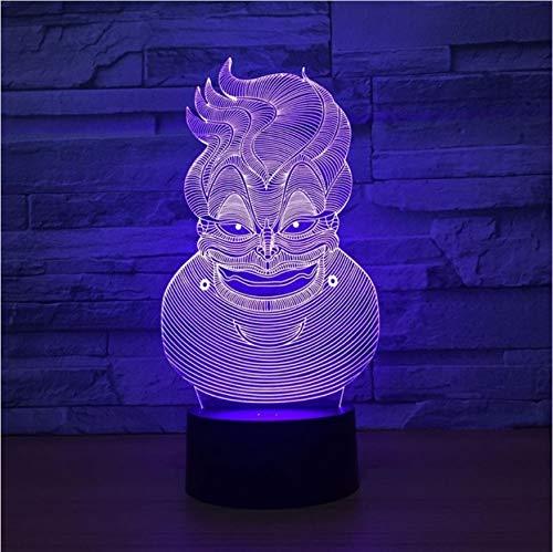 3D lampe clown 7 farbe led nachtlampen für kinder touch usb tischlampe baby schlaf nachtlicht für kinder geschenk