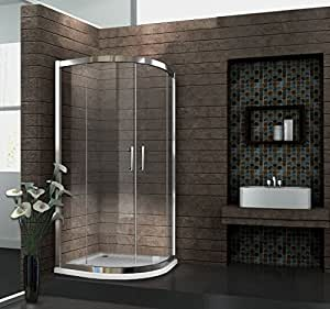 6 mm duschkabine duschabtrennung eck dusche viertelkreis 80 x 80 x 195 cm fresh ohne duschtasse. Black Bedroom Furniture Sets. Home Design Ideas