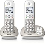 Philips XL4952S/38 schnurloses Telefon mit Anrufbeantworter (4,8 cm (1,9...
