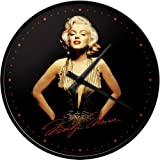 Nostalgic-Art 51026 Celebrities - Marilyn - Gold, Wanduhr, 31 cm