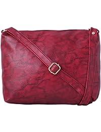 Speed X Fashion Women's Sling Bag Maroon AMZN26 (IND 102NS)