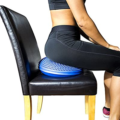 PhysioRoom NEW Air Stability Wobble Balance Rehab Cushion 35cm - ADHD, Improves Posture, Core Training, Anti-Slip Surface, Supports Muscle, Comfortable, Encourages Active Sitting for Kids, Child Friendly - AB305107 - inexpensive UK light store.