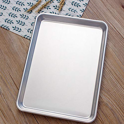 Blatt Pan Tapered Design Einfache Stapelung BBQ Durable Antihaft Aluminium Backen Werkzeug Küchenbedarf(Silber) -