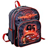 KINDER RUCKSACK 38 x 27 x 17 CM - DISNEY CARS COLLECTION - SCHWARZ / GRAU / ROT