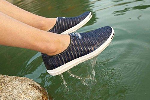 Wanderschuhe Größe Männer Brathable Schuhe Schlüpfen Blue Pumpe Loafer Rutschfest Fahrschuhe Sneker Eu 44 Sandalen Hohl Casua 38 Laufschuhe Netzgarn Pedal Mesh T4F6Cwq