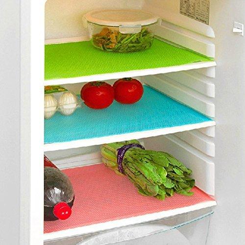 BESTOMZ Kühlschränke Waschbare Kühlschrankmatten Küche-Silikon-Kühlraum-Auflagen Platzieren Sie Matten 4PCS/Set