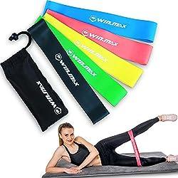 Bandas Elasticas Conjunto de 5 Bandas de Resistencia para diferentes niveles de fuerza; para el acondicionamiento físico, ejercicios y terapia física, Pilates, yoga, rehabilitación, mejorar la movilidad y la fuerza, garantía de por vida