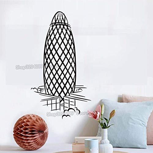 zqyjhkou Einfache Wahrzeichen Die Gurke Wandaufkleber Kreative PVC Abnehmbare Wohnzimmer Dekoration Kunst Wandbilder Abziehbilder Yy453 56x100 cm