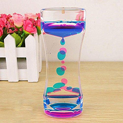 Yibenwanligod - Gotas de aceite de doble color para gotas de hora, líquido flotante, burbujas, temporizador, decoración de escritorio 5.31' x 1.97' x 1.18' morado