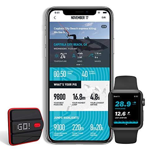 PIQ BKITE3 Duotone Kite Set Multisport Sensor mit Echtzeit Anzeige inkl. Kiteboard Halterung (misst Sprunghöhe und vieles mehr) und App für iOS, Apple Watch und Android -