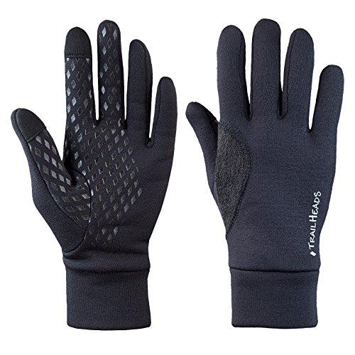 TrailHeads Power Stretch, guanti da running da uomo in tessuto elastico, adatti per l'uso di schermi touch, Uomo, S