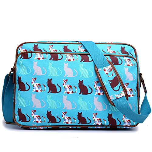 miss-lulu-matte-finish-oilcloth-cat-dog-galaxy-universe-satchel-messenger-bag-cat-teal