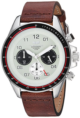 Vestal 'ZR2' Quartz Stainless Steel and Leather Casual Watch, Color:Brown (Model: ZR243L03.BR)
