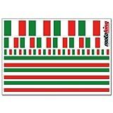 Flaggenaufkleber ITALIEN - 24 Aufkleber für Auto, Boot, Fahrrad und Motorrad