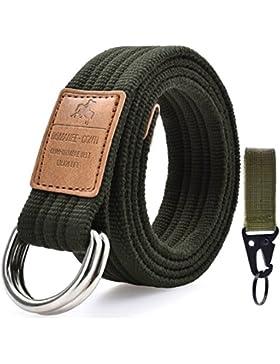 Cintura Uomo Tela Militare Sportiva Tattica Casual Nera Cintura Moda All Aperto Unisex Molti Colori Disponibili...