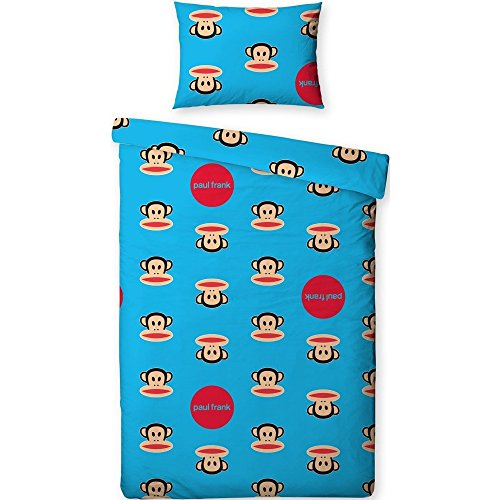 Kinder Paul Frank Bettwäsche-Set mit Punkten und Julius dem Affen, Einzelbettgröße (Einzelbett) (Blau)