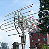 Outdoor HDTV Antenna 360 Degree Remote Controlled UHF/VHF/FM - Best Reviews Guide