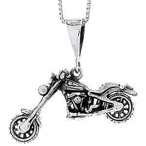 Revoni - Pendentif - Argent massif - Moto (modèle Harley Davidson)