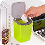#7: Glive's Plastic Mini Desktop Dustbin Trash Can Box Storage Container