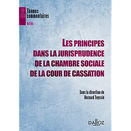 Les principes dans la jurisprudence de la chambre sociale de la Cour de Cassation- 1ère édition: Thèmes et commentaires