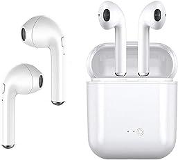 Cuffie senza fili con cuffie bluetooth mini intrauricolari, cuffie sportive con 2 auricolari senza fili, compatibile con iPhone X/8/7/6/6S Plus e la maggior parte degli smartphone Android (bianco)
