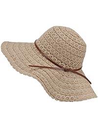 3318cfbfdf247b Magic Zone Damen Faltbarer Sonnenhut UPF Flexible Sommer Strand Strohhut  mit Sonnenschutz Breite Krempe Damen Mode Hut aus…