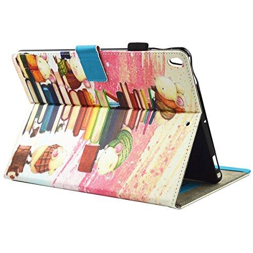 iPad IPad pro 10.5 Custodia per IPAD iPad pro 10.5 inch, inShang Smart Cover case in pelle PU, supporto per tenere L'iPad sollevato, magnetico per sleep e standby Small hamster reading