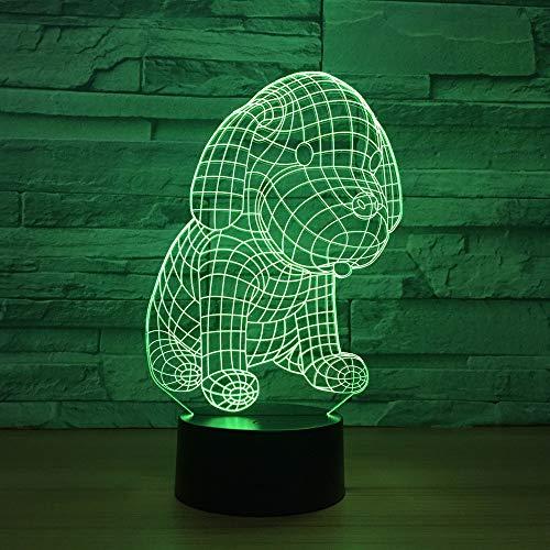 YDBDB Idee Led Acryl 3D Nacht Welpen Modellierung Usb-Schnittstelle Persönlichkeit Geschenk Led Nachtlicht Touch Schalter 3D Lampe