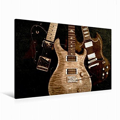 Calvendo Premium Textil-Leinwand 120 cm x 80 cm quer Vintage Strings - Elektrische Gitarren   Wandbild, Bild auf Keilrahmen, Fertigbild auf echter Leinwand. in Szene gesetzt Kunst Kunst (Wand-kalender-string)