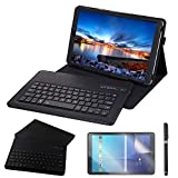 REAL-EAGLE Coque Galaxy Tab A 10.5 2018 QWERTY Clavier Bluetooth Étui Housse, sans...