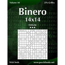 Binero 14x14 - Difficile - Volume 10 - 276 Grilles