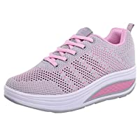 Daylin Newest Outdoor Lightweight Soft Nice Fashion Women Mesh Heightening Shoes Soft Bottom Rocking Shoes Sneakers