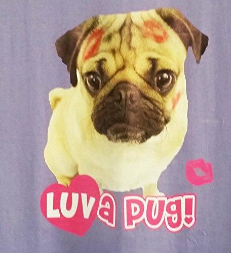 TopsandDresses Damen Nachthemd Ladies Purple Pug