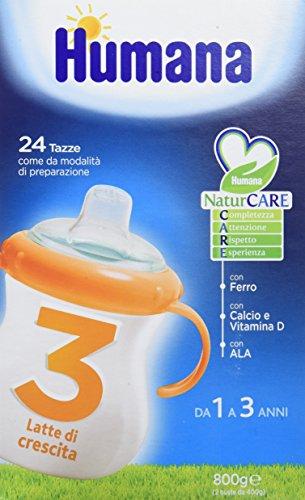Humana junior drink latte di crescita per bambini, indicato dai 3 anni, in polvere - 800 gr