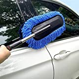 Seven Moon Multi-Functional Duster Brush Car/Computer/Window/Door/Home Kitchen Duster with Long Retractable Handle Clean Tool Cleaning Trap Dust (Random Color)