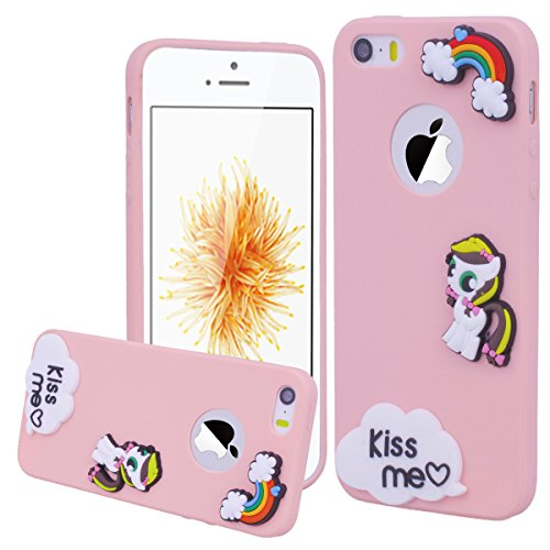 "WE LOVE CASE iPhone 6 / 6s Hülle Candy Series Sonnenblume iPhone 6 / 6s 4,7"" Hülle Gelb Schutzhülle Handyhülle Weich Silikon Handytasche Ultra Dünn Flexibel Cover Case Etui Soft TPU Handy Tasche Schal Pink"
