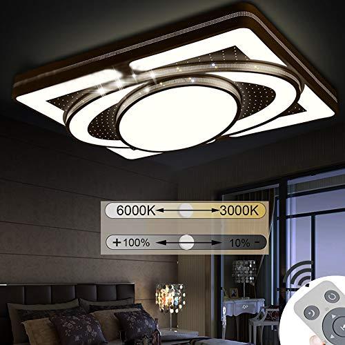 Jinpin plafoniera 78w dimmerabile spacecraft led panel lampada da soffitto soggiorno camera da letto risparmio energetico illuminazione interna (b-78w)