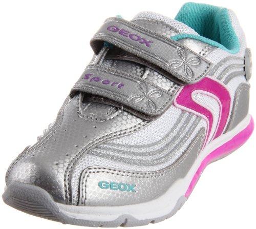 Geox J MAGICA N J22B8N01454C8471 Mädchen Sneaker Silber (SILVER/FUCHSIA C0162)
