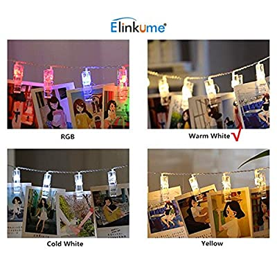 ELINKUME LED Photo Clip Lichterketten