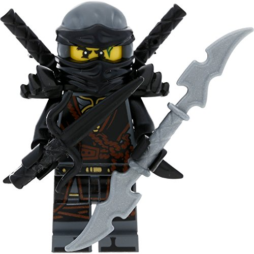 LEGO Ninjago Minifigur Cole aus Set 70623 Destiny's Shadow mit 4 GALAXYARMS Schwertern