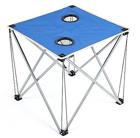 table pliante extérieure plage Voyage barbecue Oxford table basse en tissu ultra - portable léger , blue
