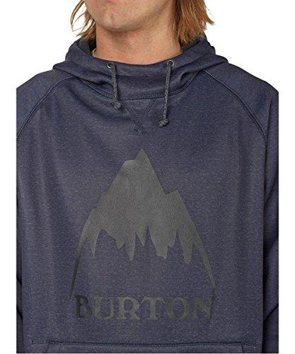 Burton Herren Crown Bonded Pullover Hoodie Mood Indigo Heather