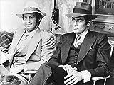 Photographie Noir et Blanc d?Alain Delon et Jean Paul Belmondo dans le film Borsalino (30x40 cm)