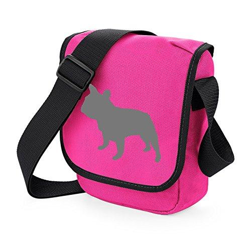 Bag Pixie ,  Unisex Erwachsene Umhängetaschen Grey Dog Pink Bag