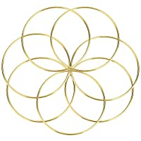 Hotop 7 Pack Gold Metal Rings Hoops Craft Metal Hoops for Dream Catcher, 6 Inches