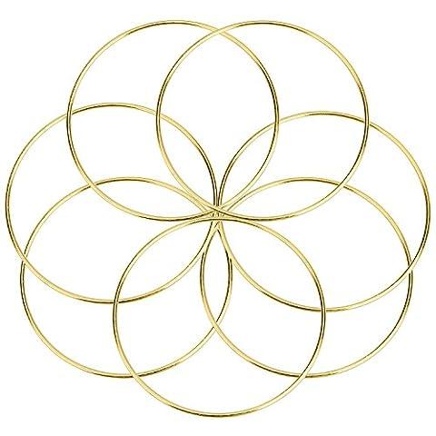 7 Packung Gold Metall Ringe Hoops Handwerk Metall Reifen für Dream Catcher, 6 Zoll