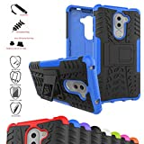 Huawei Honor 6X Custodia,Mama Mouth Duro Shock Proof copertura Rugged Heavy Duty Antiurto in Piedi Custodia caso Case per Huawei Honor 6X Smartphone,Blu