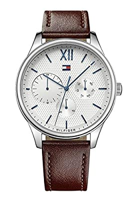 Tommy Hilfiger Reloj Multiesfera para Hombre de Cuarzo con Correa en Cuero 1791418