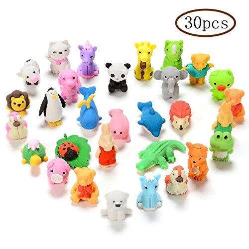 istift Radiergummis, Premium Neuheit Tier Radiergummis Sammlerstück Set von liebenswert, beste Puzzle Spielzeug für Kids Party, Spiele Preise, Karneval und Schulmaterial ()